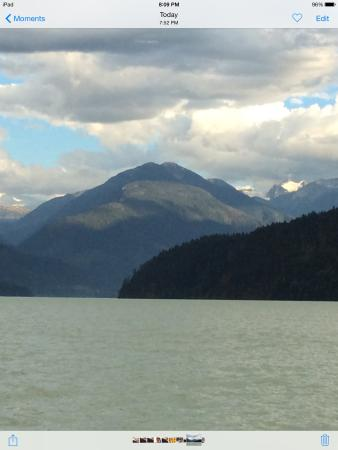 The Cottage B&B on Lillooet Lake : Beautiful View ,one of many