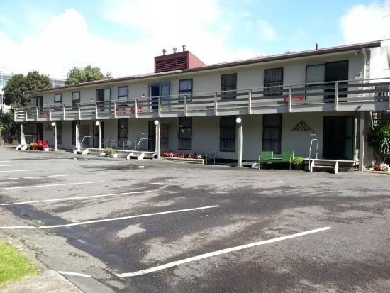 Carrington Motel: Back View of Motel