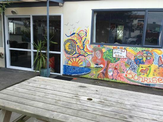 Sunrise Lodge: Mural by Nicklas
