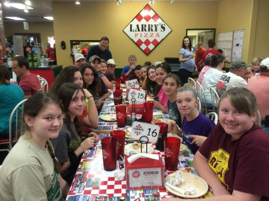 Polk County 4-H members love Larry's Pizza at Bryant!