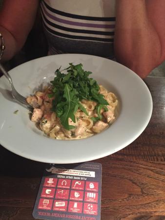 The Red Hart: Salmon & Crayfish Pasta