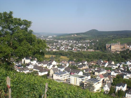 Hotel Restaurant Hohenzollern: the Ahrtal valley from the hotel deck