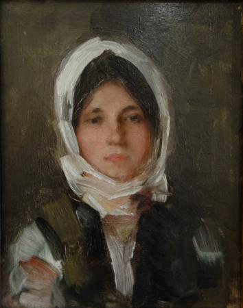 The Art Collections Museum: Nicolae Grigorescu: Portrait of a Girl