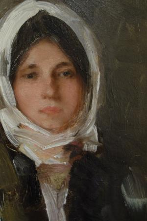 The Art Collections Museum: Nicolae Grigorescu: Portrait of a Girl. Detail