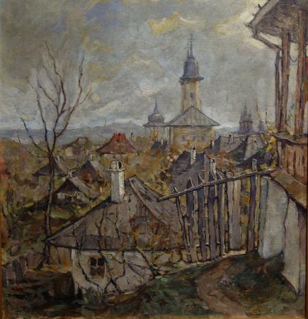 The Art Collections Museum: Alexandru Padina: Townscape with Church