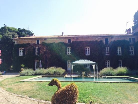 Domaine Saint Hilaire: View from the pool