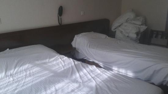 Hotel Majestic : Fotos de la habitación sin hacer