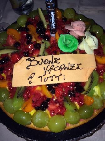 Merone, Italy: Crostata di frutta personalizzata