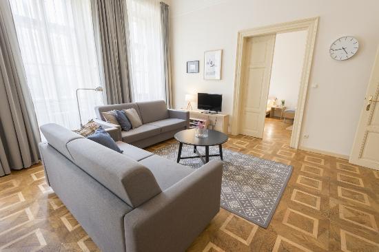 Bohemia Apartments Prague Centre Living Room