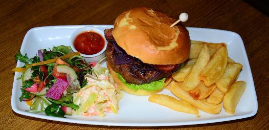traditional home made burger