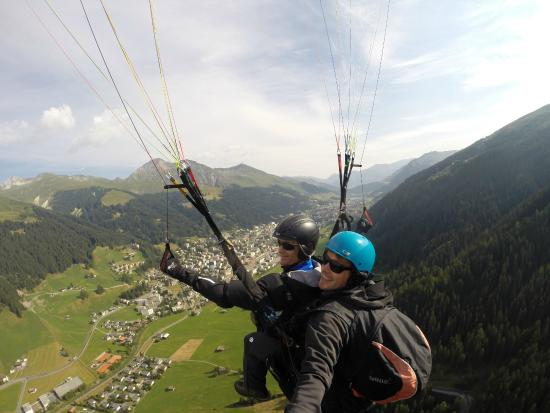 Joyride Paragliding over Davos, Switzerland July 2015