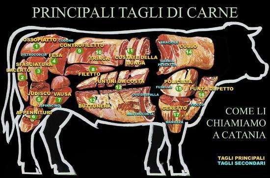 I nostri tagli di carne foto di il carnivoro spino d for Cucinare in inglese