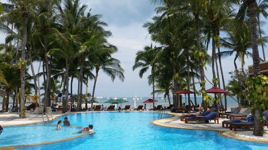 Manathai Koh Samui Main Pool Waterline Across The Road From Hotel