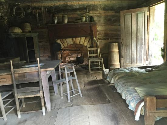 Interior Of Pioneer Log Cabins Picture Of Museum Of