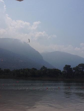 The Sugar Beach Club: Sugar beach club, watching more paragliders