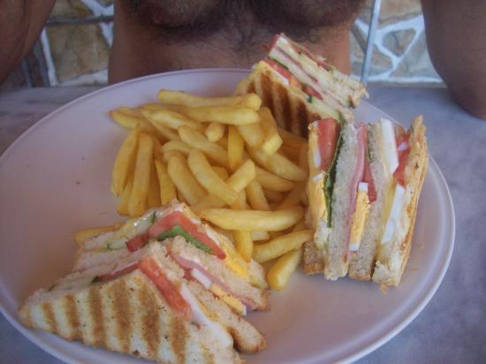 Byzantium Apartments: Club Sandwich! Gorgeous, just like all the food served here.
