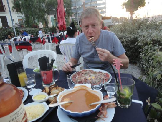 Restaurant le lamparo dans saint mandrier sur mer avec for Restaurant st mandrier