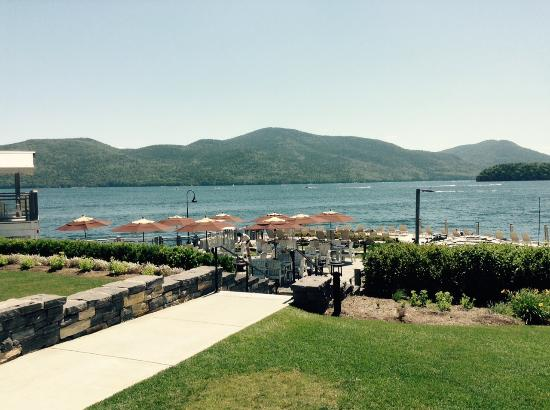 The Pavilion : Dining Area Overlooking Lake George