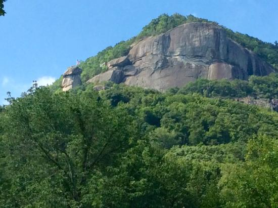 Fibber MaGee's Riverfront Inn: Chimney Rock View From Our Porch