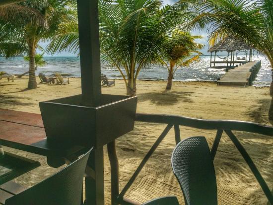 Maya Beach Hotel : View of the beach from restaurant.