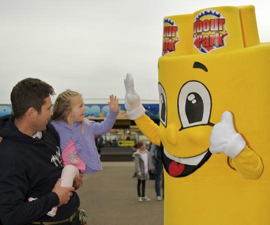 Harbour Park: Meet our mascot, Sandy the Sand Castle