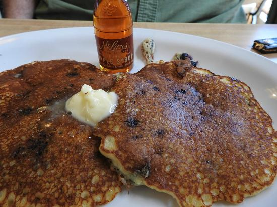 Augusta House Of Pancakes: Blueberry Pancakes with Real Maple Syrup.