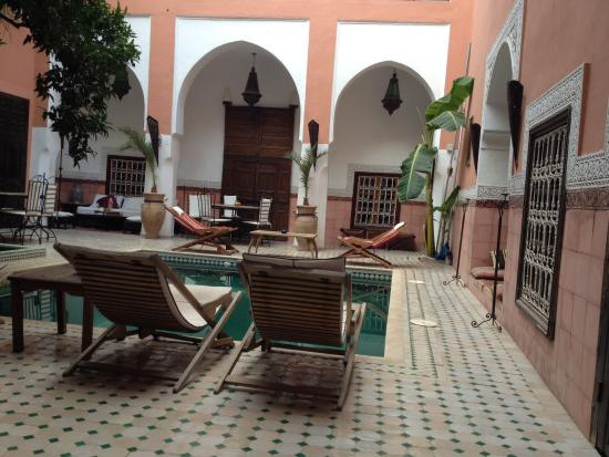 Riad Barroko: Central courtyard