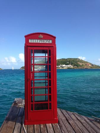 British Virgin Islands: The dock at Marina Cay