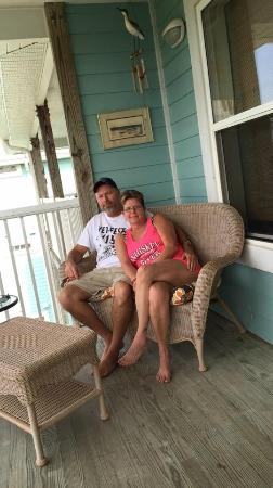 Natures Landing Condominium: Jim & Jennifer On The Balconey