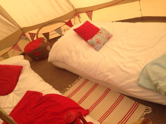 Not Just Any Tent: Wonderful set up of the bell tents