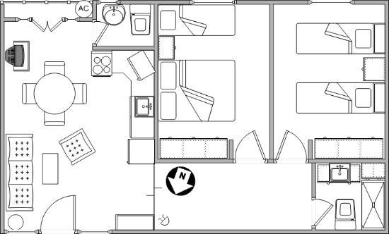 Croquis de ambientes y mobiliario departamento 1b for Croquis de casas