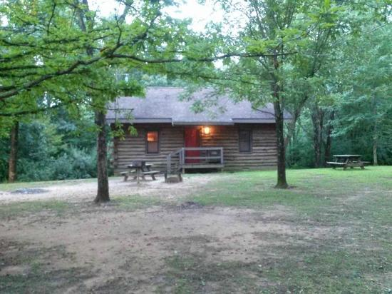 Harmonie State Park: Outside of a cabin
