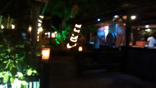 Santa Villa Restaurante: Patio externo do restaurante.