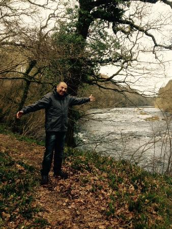 Kirkwood Cottages & Fishings: My husband by the river.