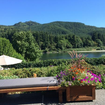 Tu Tu Tun Lodge: View or Rogue River from the deck