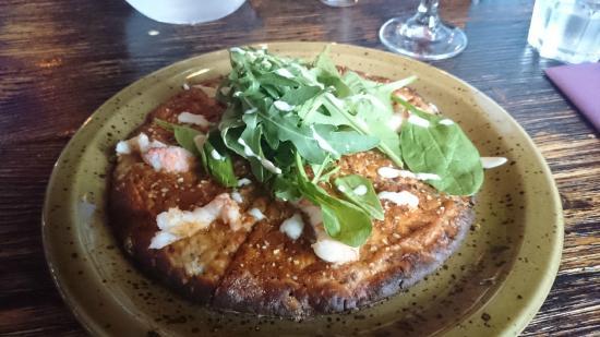 Bryggjan: Whole-wheat lobster pizza