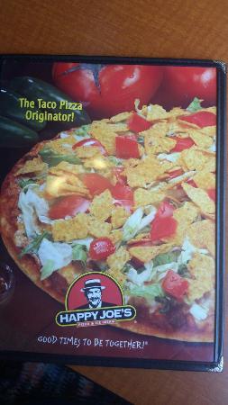 Happy Joe's Pizza & Ice Cream: The menu and fortune teller machine