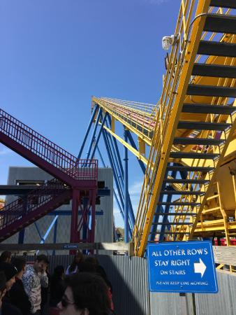 Waiting and waiting (and waiting) in rat-maze lines is as much a part of the amusement park experience as riding roller coasters and eating cotton candy. 90 minutes of inching along in stanchion hell is the price we must pay for 2 minutes of coaster heaven.