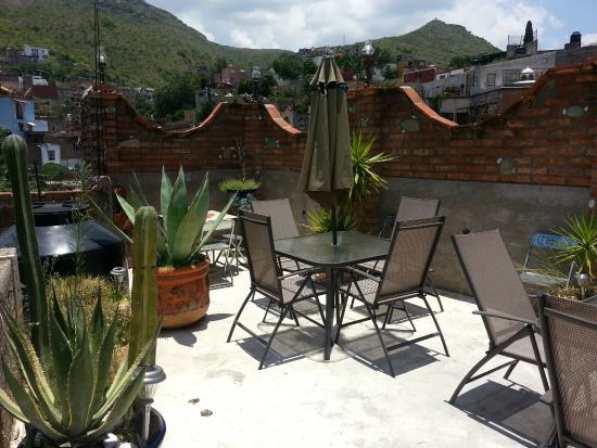 Casa Malitsin: This is a small patio area on the roof.