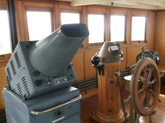 Sault Ste. Marie, Kanada: The Norgoma's pilothouse is nicely restored.