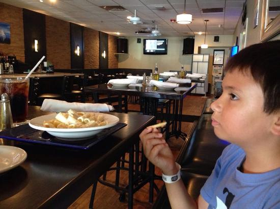 Martinis Bar and Grill : My son loved his Macaroni and cheese
