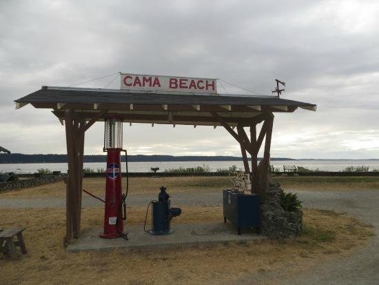 Cama Beach State Park: Old gas pumps.