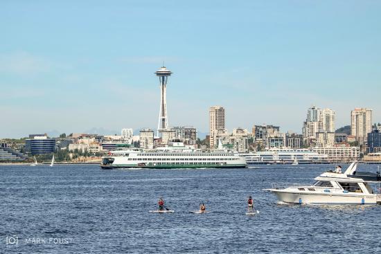Alki Beach Seattle City Skyline