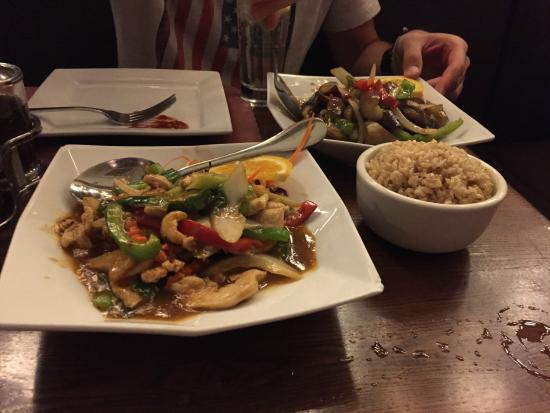 Thai On Main: Spicy Cashew and Japanese Eggplant and Basil