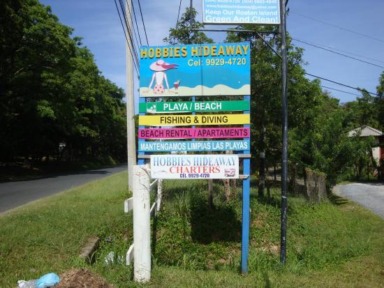 Hobbies Hideaway sign from street