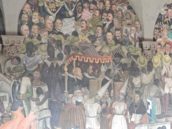 Murales de Diego Rivera en la Secretaría de Educacion Publica: detalle del mural de Diego Rivera