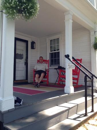 The Inn on Cove Hill: The porch outside Joshua's Room - loved the great big rocking chairs!