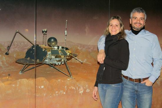 IMAX Tycho Brahe Planetarium: Um modelo em exposição da sonda enviada a Marte.
