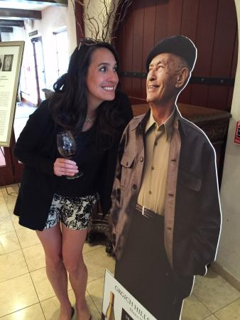 Rutherford, CA: Mr. Grgich (life size) :-)