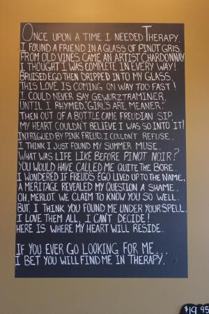 Therapy Vineyards: Winery sign
